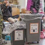 afval scheiden op de Bijenkorf school